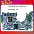 Placa madre del ordenador portátil mainboard para asus x201e x201ep con i3-2365cpu bordo probó el envío libre ok