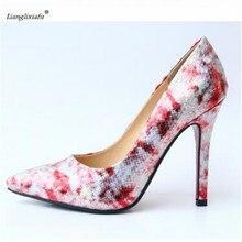 LLXF sapato feminino Crossdresser Nightclub Sexy 11cm Thin High-heeled Fashion Shoes woman Stiletto female Pointed Toe Pumps