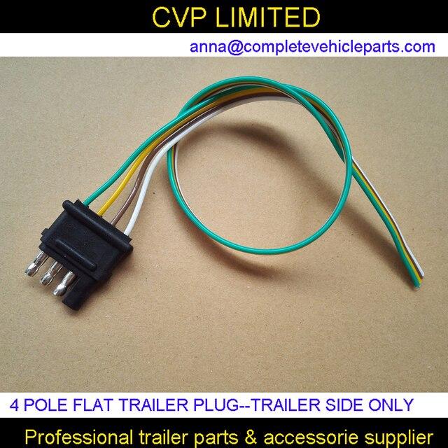 4 pol pin anhänger stecker, flache anhänger stecker kabelbaum kit ...