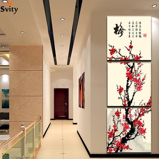 3 Pièce Peinture Salon Moderne Mur Peinture Fleur Décorative Wall Art  Peinture Photos Impression Sur Toile
