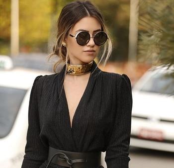 JackJad 2017 Fashion SteamPunk Vintage Round Style Sunglasses Women Side Cover Gradient Brand Design Sun Glasses Oculos De Sol 4