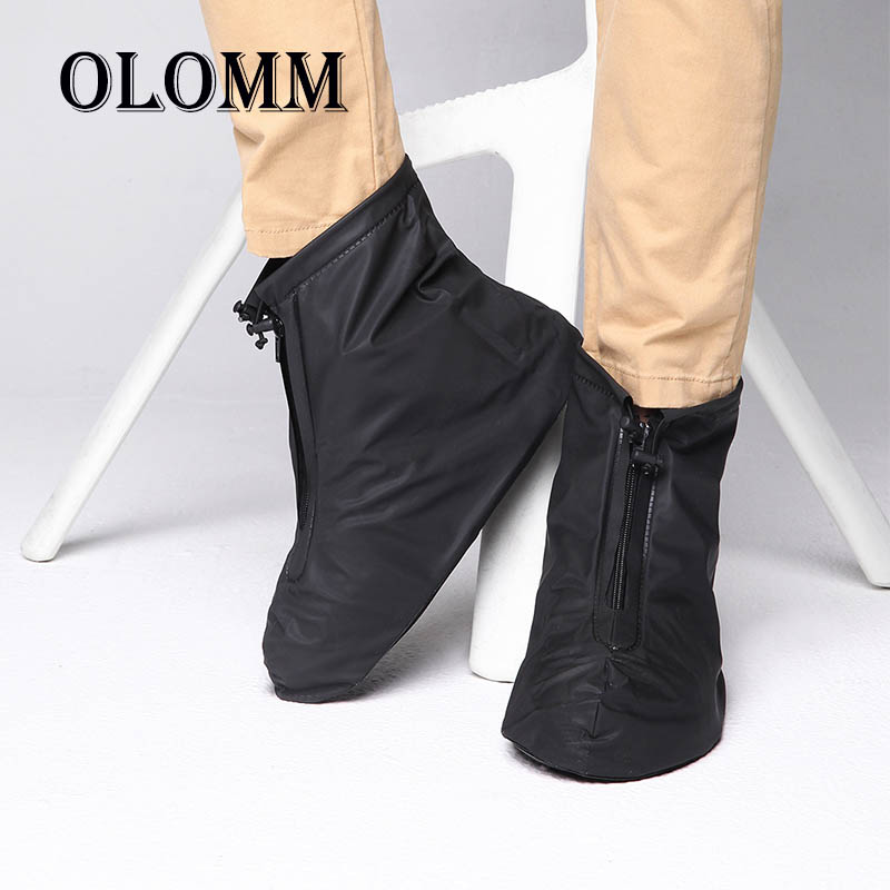 Fashion PVC Waterproof Shoe Cover Reusable Non-Slip Rain Boots Set Unisex Silicone Thick Wear-resistant Covers Easy To wash