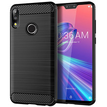 Asus Zenfone 5 用最大プロ M2 ZB631KL ZB633KL ケース Coque 炭素繊維ソフトシリコンケース asus の Zenfone 5 6 ZS630KL バンパー(China)
