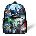 12-inch New  Movie Batman School backpack Boys Bag Kids NINJAGO INDIANA JONES Backpack Child School Bag Mochila Escolar Menino