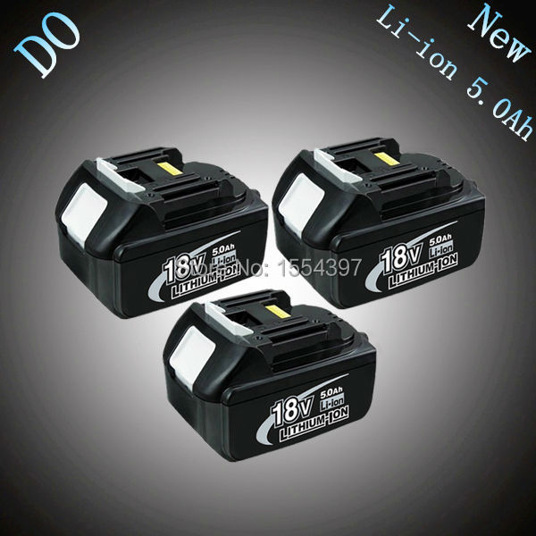 3PCS 5000mAh New Rechargeable Lithium Ion Replacement Power Tool Battery for Makita 18V BL1830 LXT400 194205-3 194230-4 BL1815 cm 052535 3 7v 400 mah для видеорегистратора купить