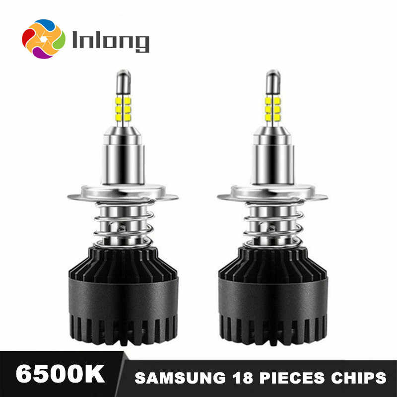 With 4 Sides SAMSUNG 12-18 Pieces Chips H7 LED H4 10000LM H1 H11 9005 9006 HB4 H8 D4S Car Headlight Bulbs 6500K Fog Lights DC12V