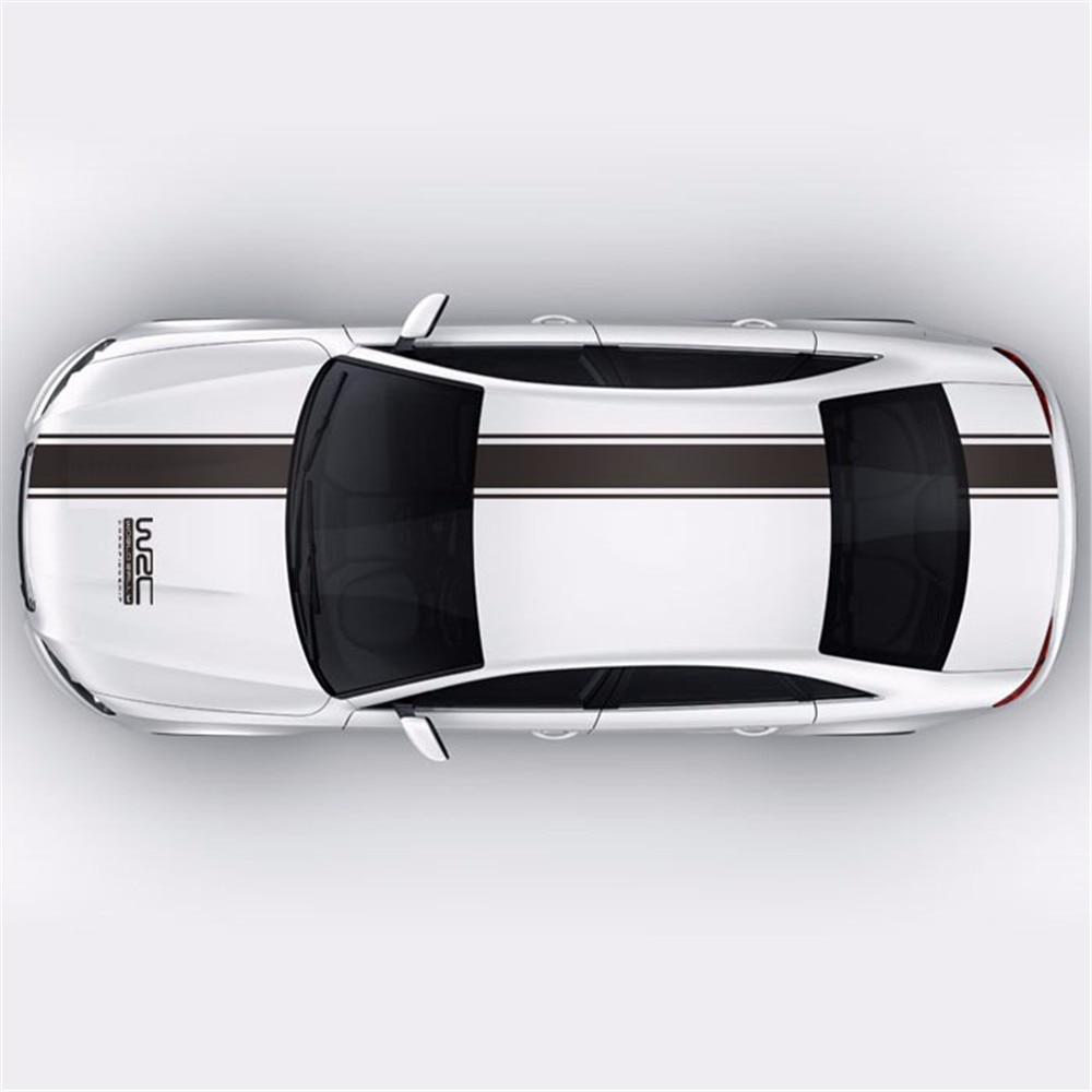 Chunmu Personalização WRC Carro Tarja Cobre Cabeça Esportes de Corrida Decalque de Vinil adesivo de carro para ford focus cruze acessórios renault