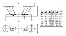 316 Stainless Steel Heavy Duty Double Horn Mooring Bollard Cleat 160 200 220 275 300 340mm for Marine Boat Yacht