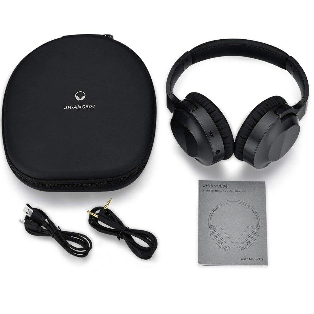 JH-ANC804 ANC Bluetooth наушники гарнитура активность Шум отмена за ухо глубокий бас музыки наушников Hands-free с микрофоном