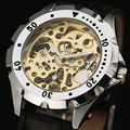 WINNER Fashion Casual Watch Men Women Lover Business Skeleton Clock Hand Wind Mechanical Sport Military Luxury Wrist Watches