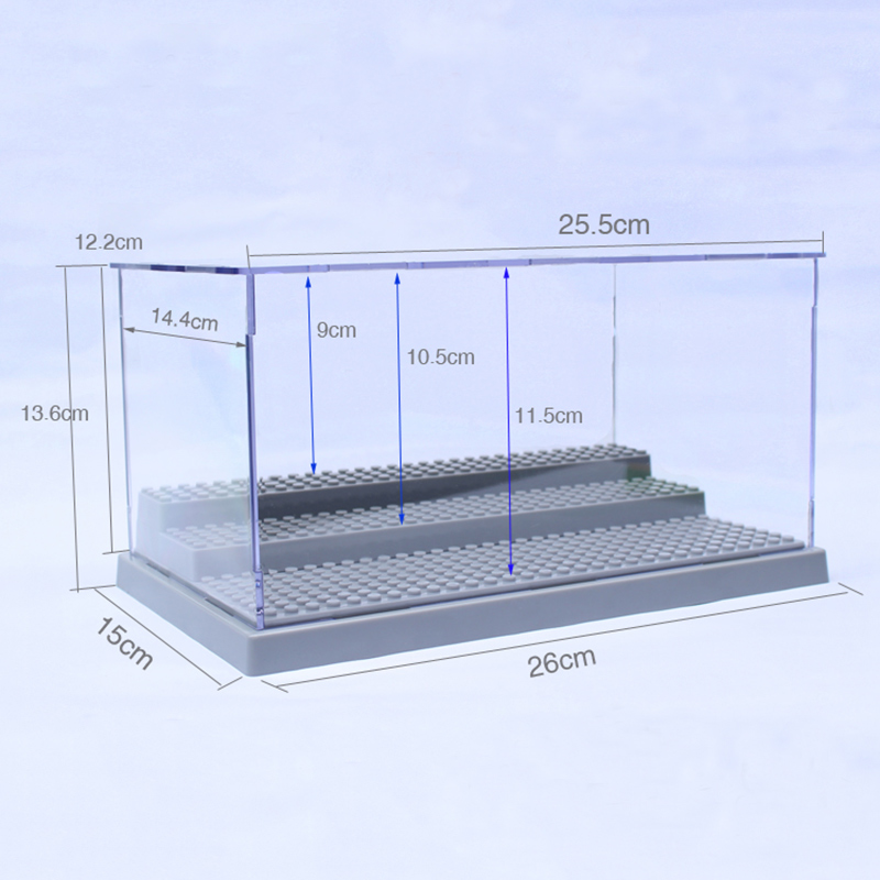 3 Steps Clear UV Acrylic Plastic Display Box Case Plastic Box Dustproof Protection Showcase Case Dollhouse Action Figure Toy 49 golf ball display case cabinet holder rack w uv protection