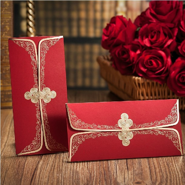 creative chinese envelope for wedding 2015 gold red wedding
