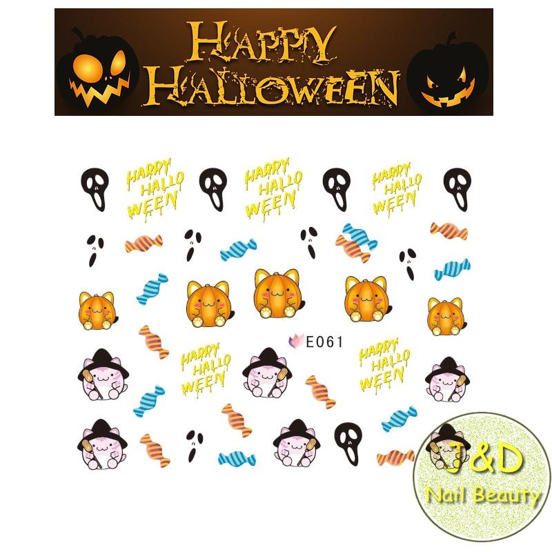 Stickers en 3D d/'Halloween squelette fantomes citrouille Stickers en 3D d/'Hallow
