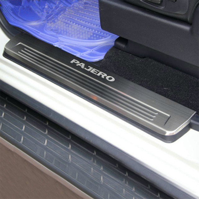 SNCN stainless steel scuff plate For Mitsubishi Pajero V93 73 V97 door sill welcome pedal cover accessories