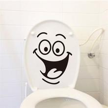 Cute Smile Face Big Eyes office hotel toilets bathroom home decal wall sticker/adesivo de parede for wedding decoration ZY342