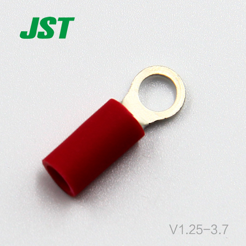 100pcs Thousand pieces of electronic JST connector cold pressing single granule ring terminal V1.25-3.7