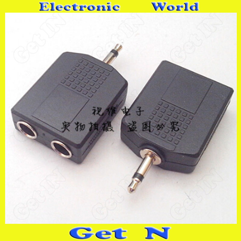 30pcs Adapter Connector Converting 3.5 Mono Track to Dual-6.35 3.5 Male to Dual 6.5 Female KK 3.5-to-Dual-6.5