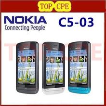 Восстановленное C5-03 Nokia C5-03 WIFI GPS 5MP 3 г Bluetooth разблокировать cellphoneOne год гарантии