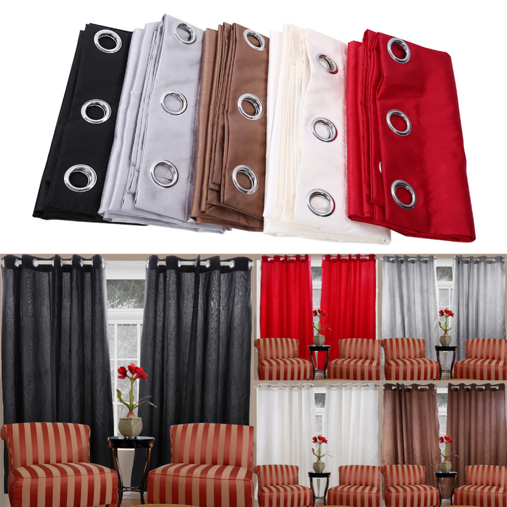 Modern grommet top curtains - Polyester Diameter Grommet Top Eyelet Curtain Home Wave Living Room Balcony Voile Panel Sizes Home Decor