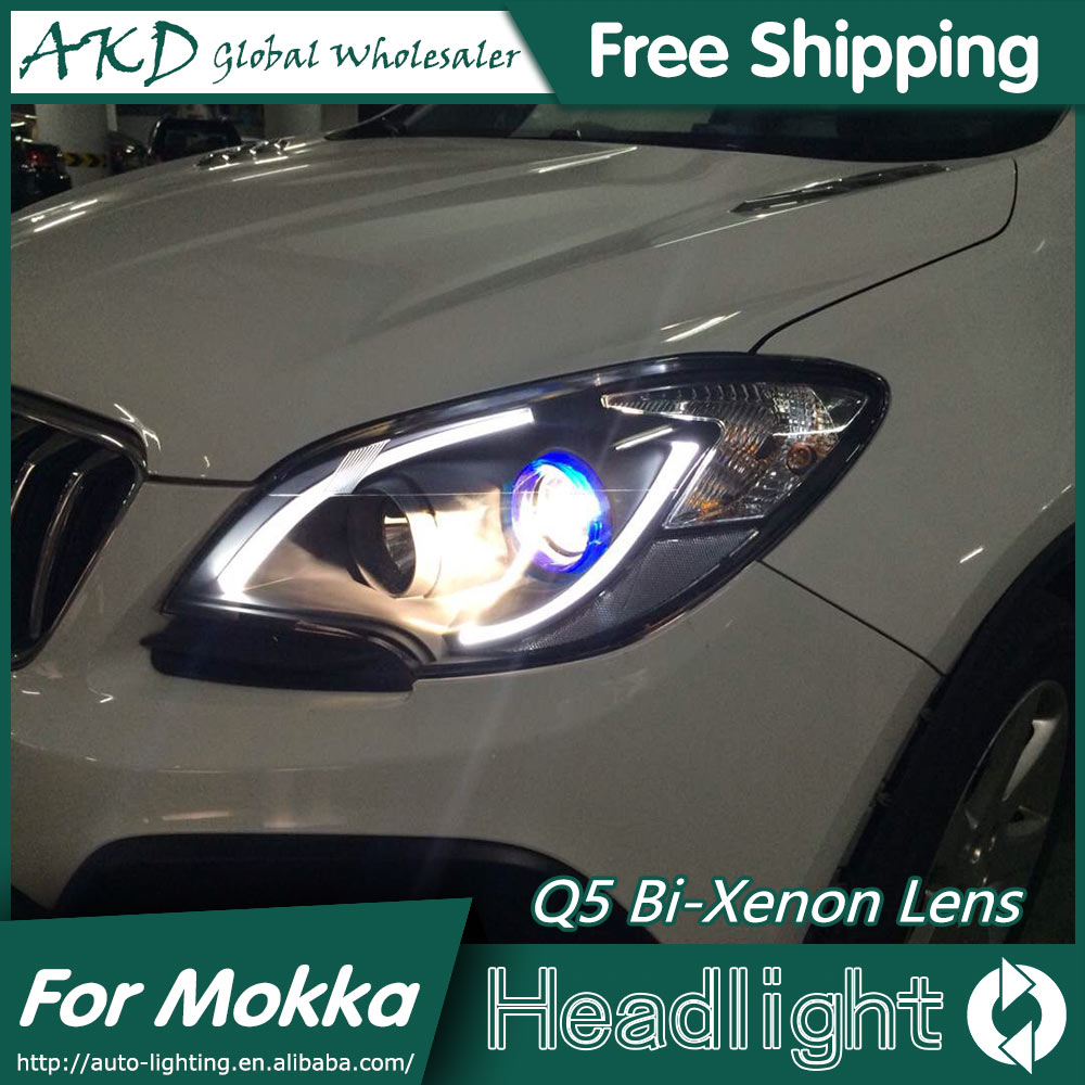 AKD Car Styling for Opel Mokka Headlights 2014-2015 Mokka LED Headlight DRL Bi Xenon Lens High Low Beam Parking Fog Lamp akd car styling for nissan teana led headlights 2008 2012 altima led headlight led drl bi xenon lens high low beam parking