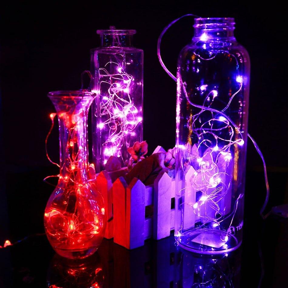 2 Mt Lange 20 Led lampen Knopfzelle Strom String Hochzeit Mikrodraht ...