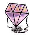 Дизайнер женщины Damond геометрический лазерная голограмма дамы кожаные сумки для ну вечеринку клатчи 6 цвета Bolsas де Mujer Cuzdan сумка женская через плечо сумка через плечо