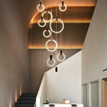 Designer Nordic simple Wood Pendant Lights led hang lamp Colorful Aluminum fixture Kitchen Island bar hotel home decor