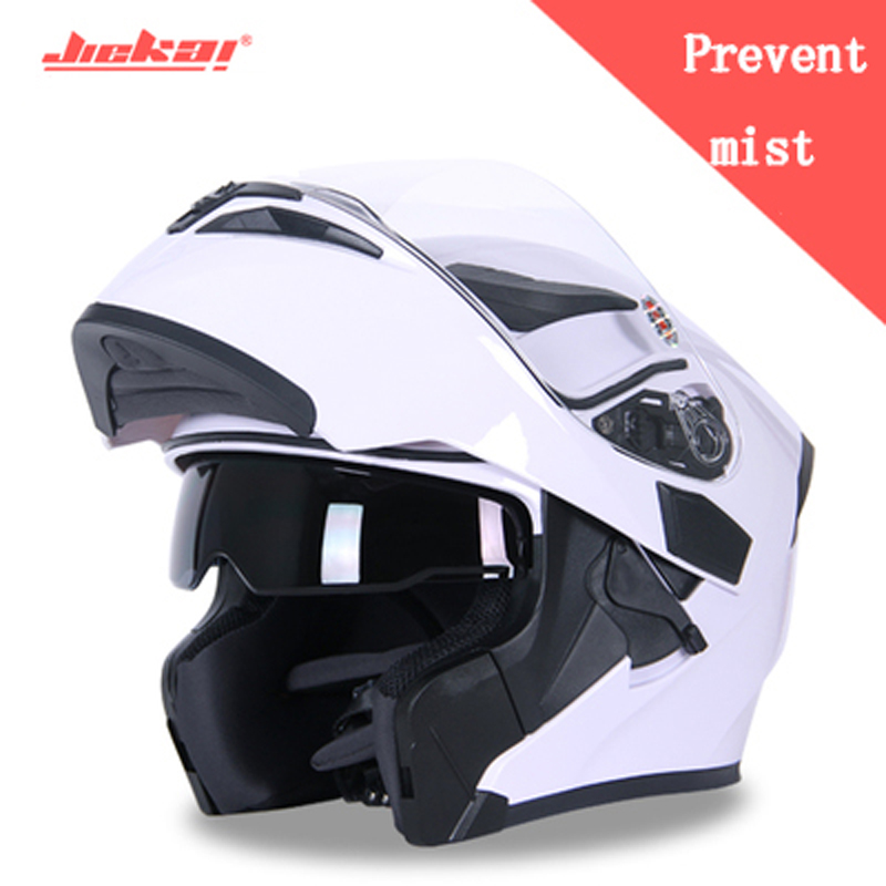 QUALITY JIEKAI902 Motorcycle helmet men and women in four seasons general anti-fog Fully covered locomotive Prevent mist helmet 2017 new knight protection gxt flip up motorcycle helmet g902 undrape face motorbike helmets made of abs and anti fogging lens