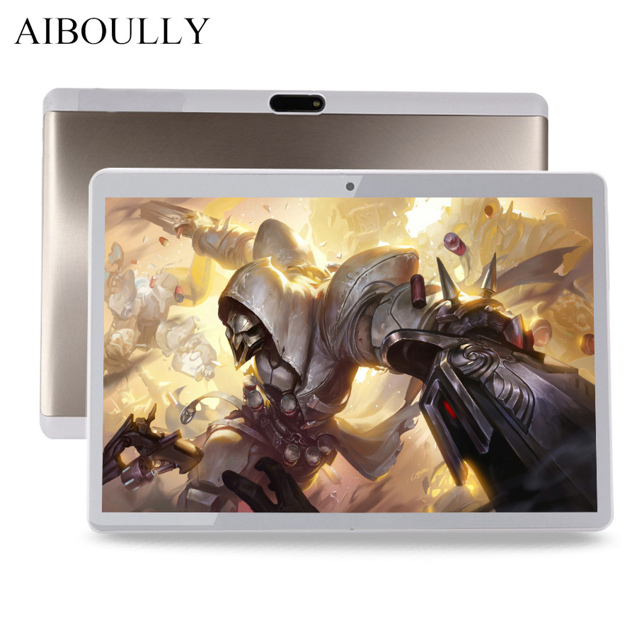 AIBOULLY Original 10.1 inch Android 7.0 Tablet PC 3G 4G LTE Phone Call Tablets Android 7 OS Octa Core 4G RAM Dual SIM Tab 9.7''