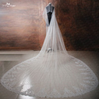 RSV30 4m Long Cathedral Wedding Veils With Crystal