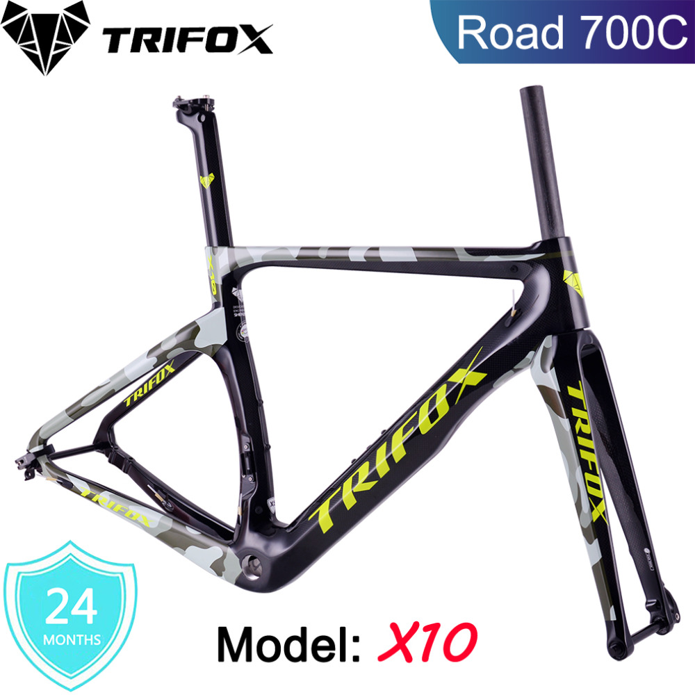 Carbon Road Frame Di2&Mechanical Carbon Frame Bicycle Road Bike Frame 3 Colors TRIFOX Racing Bike Frame Fork+Seatpost+HeadsetCarbon Road Frame Di2&Mechanical Carbon Frame Bicycle Road Bike Frame 3 Colors TRIFOX Racing Bike Frame Fork+Seatpost+Headset