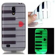 Цветные Окрашенные Мода Световой Glow В Dark Телефон Случаях Для Samsung Galaxy S4 Mini I9190 Смартфон Аксессуары Назад Shell