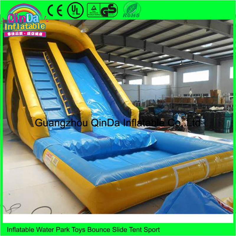 Custom commercial party rentals double inflatable water slides bounce house rental