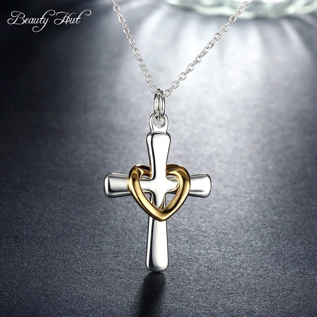 Beleza Cabana P094 venda Quente moda jóias colar de pingente cruz sagrado  coração acessório na cruz 7bcb9ee76a