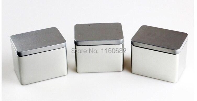 10,5x7,5x8cm Krásný obdélník prostý plechový box / krabička na čaj nebo šperkovnice bez potisku
