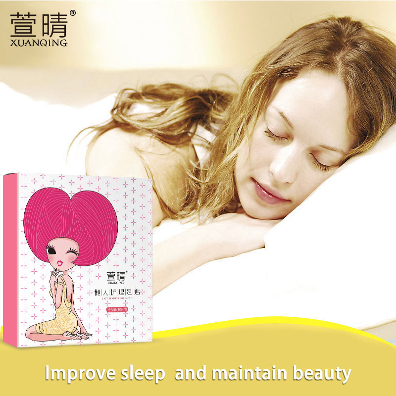 XUAN QING 10pcs Detox Foot Pad Patch Massage Relaxation Pain Relief Stress Tens Help Sleep Bamboo Body Feet Care Plaster