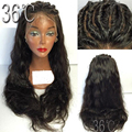 2017 Full Lace Human Hair Wigs With Baby Hair Free Part Peruvian Lace Front Wigs Loose Wave Virgin Full Lace Wig For Black Women