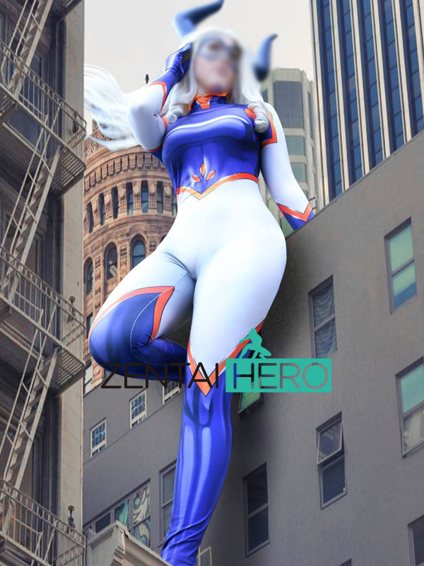 Free Shipping 3D Printed Mt. Lady Boku no Hero Academia Cosplay Costume Female Bodysuit Superhero Tight Catsuit Cosplay Costume