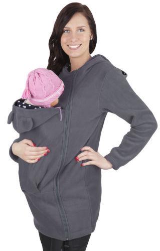 Nova Multifuncional Maternidade Hoodies Zipper Portador de Bebê Canguru Jaqueta de Inverno Casuais Casaco Para Mulheres Sweatshirs Babywearing