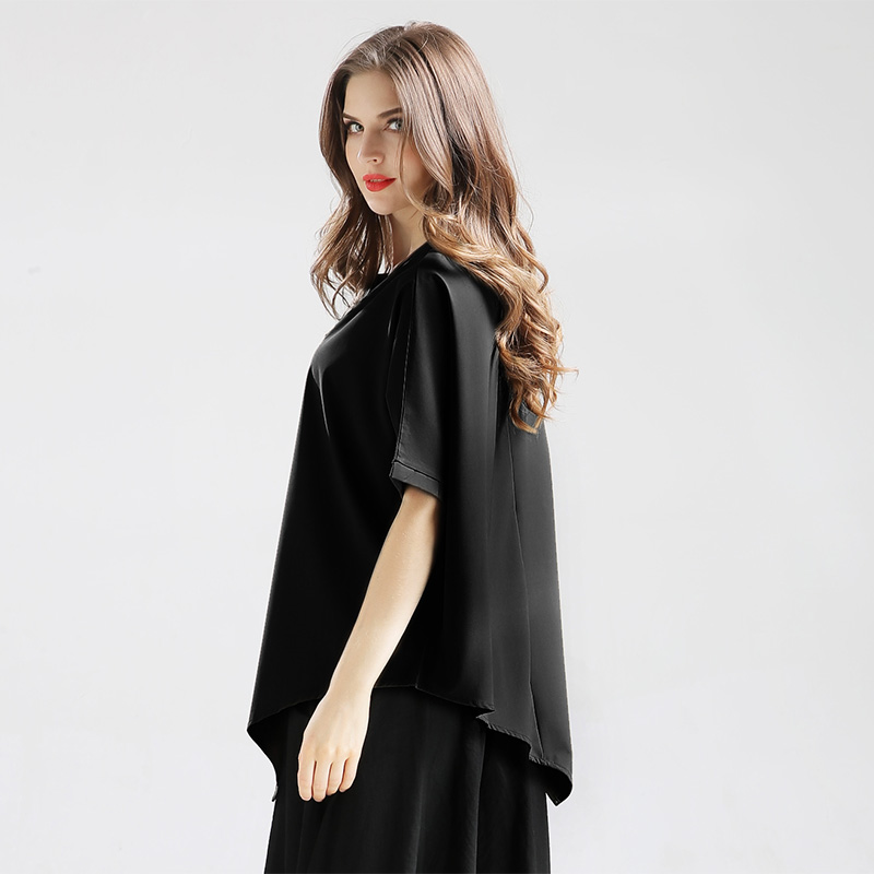 2018 hot Summer plus size Chiffon O-Neck women's Blous for women female Women's clothing Tops Spliced Short sleeve