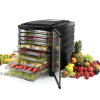 10 Layers Touch Screen Control Panel Fruit Vegetable Herb Meat Drying Machine Transparent Shelves Snacks Food Dryer
