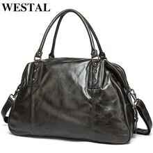 Travel Duffle Handbag Totes Shoulder-Bags Vintage-Bag Luggage-Cowhide Large Genuine-Leather