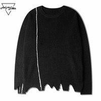Aelfric Eden Casual Sweater Men Sweater Knaye West Style Ripped Tassel Winter Fashion Vintage Hip Hop