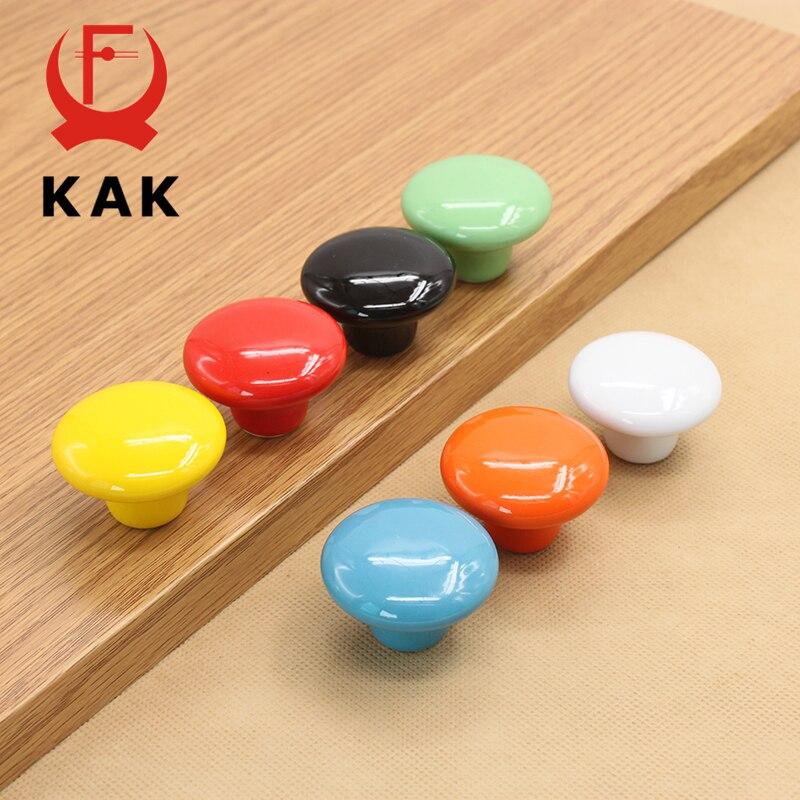 Kak doces cor redonda móveis puxadores de gaveta cerâmica puxadores armário puxa cozinha lidar com móveis para sala de crianças ferragem