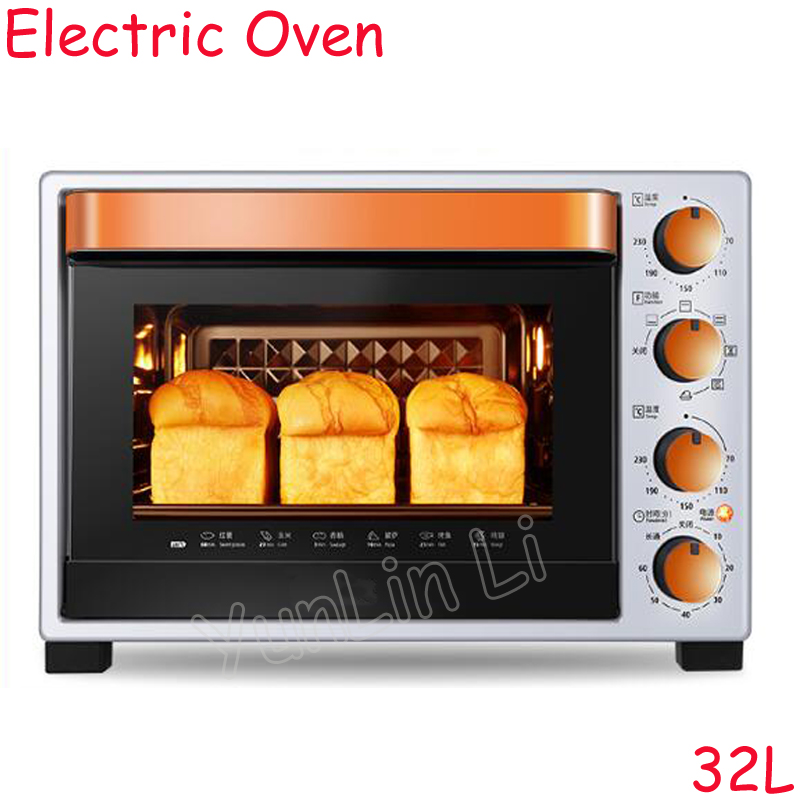 32L Multifunctional Electric Oven Household Baking Machine Full Automatic Baking Oven With Enamel Baking Tray T3-L324D все цены