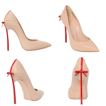 Aidocrystal 2017 New Summer Women Pumps Sweet Bowknot High-heeled Shoes Thin Pointed Stiletto Elegant High Heel Shoes