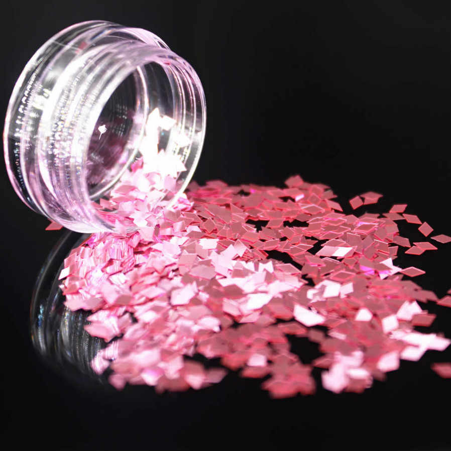 LOLEDEสีแดงสีเล็บเล็บเล็บArt Glitter Flakes UV Gel Starหัวใจดอกไม้Paillette Decorเครื่องมือTrapezoidal