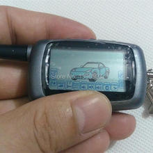 2-way A6 LCD Remote Controller Key Fob Chain for Russian Version Vehicle Security