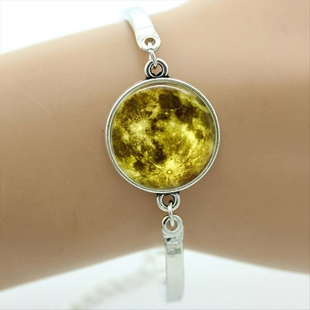 Online Shop Tafree Full Moon Bangle Astronomy Solar System Outer