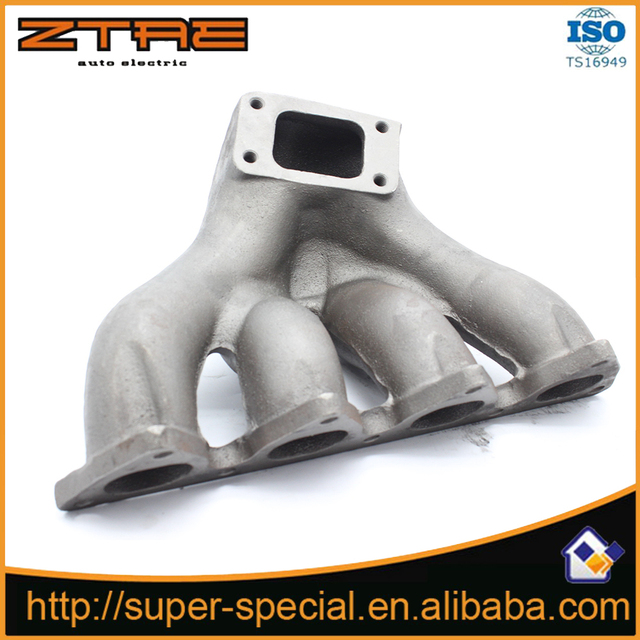 US $37 85  Cast Manfold For HONDA CRX DEL SOL SOHC D SERIES TOP MOUNT T3/T4  TURBO CAST IRON EXHAUST MANIFOLD-in Mufflers from Automobiles &